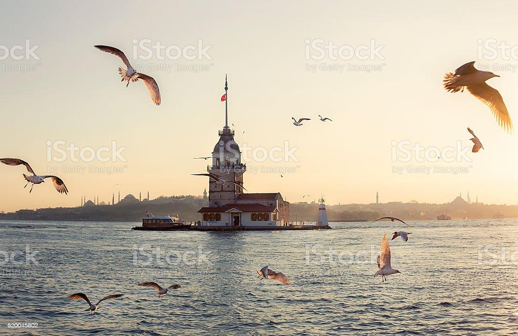 istanbul kizkulesi stock photo