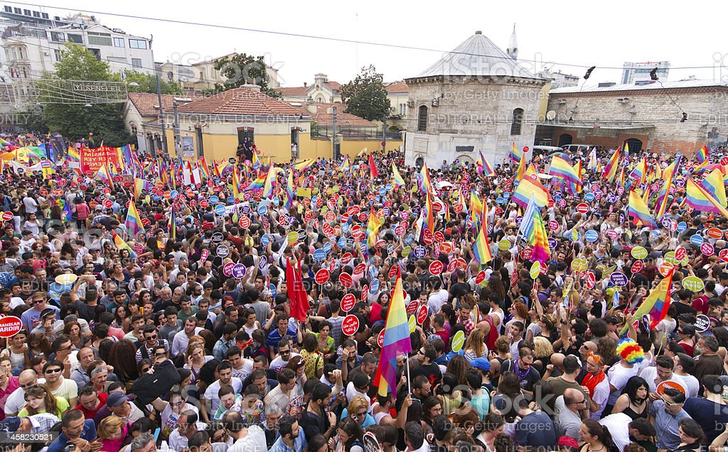 Istanbul LGBT Pride parade royalty-free stock photo