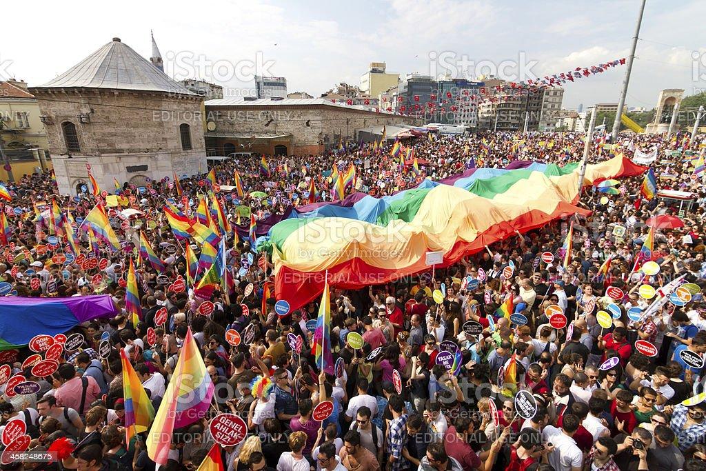 Istanbul LGBT Pride parade stock photo