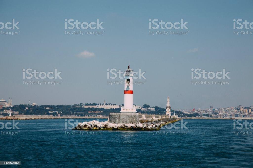 istanbul lighthouse stock photo