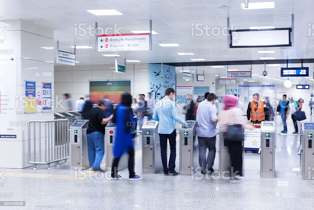 Istanbul metro stock photo