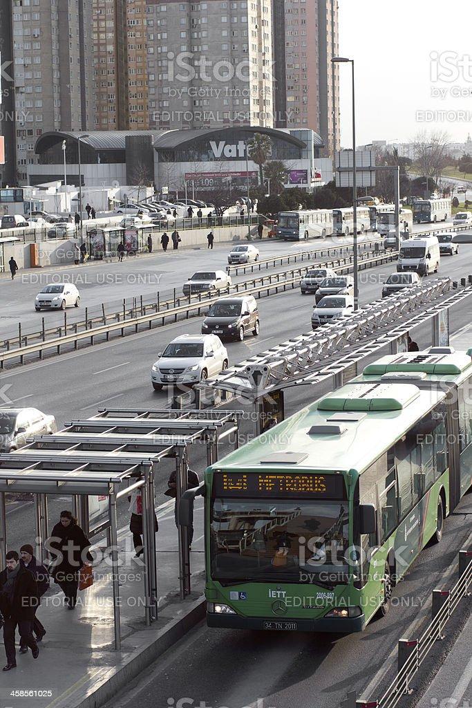 istanbul metrobus stock photo