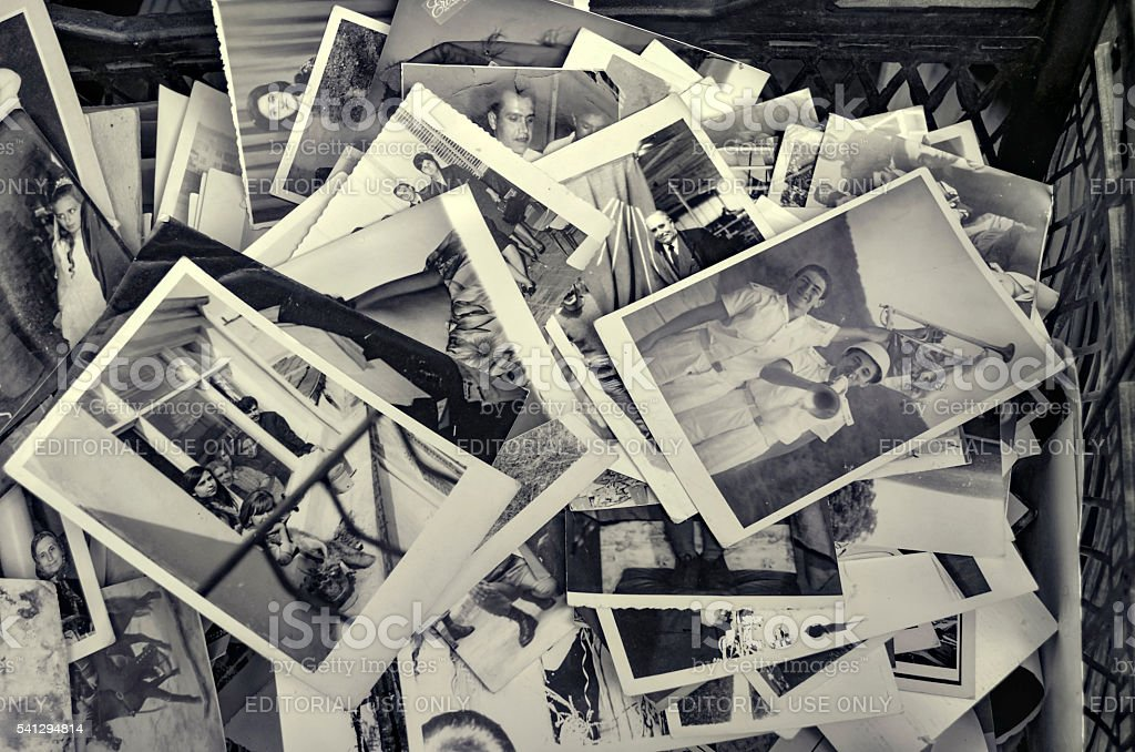 Istanbul Old family photos stock photo