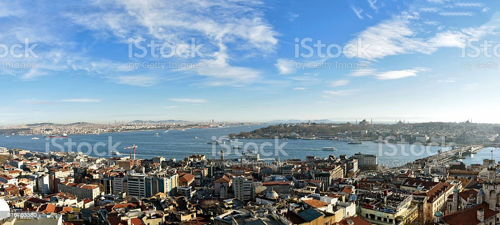 Istanbul Panorama, Aerial view of Istanbul stock photo