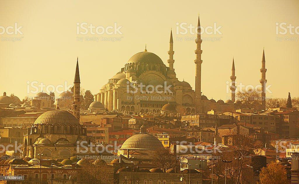 Istanbul panorama stock photo