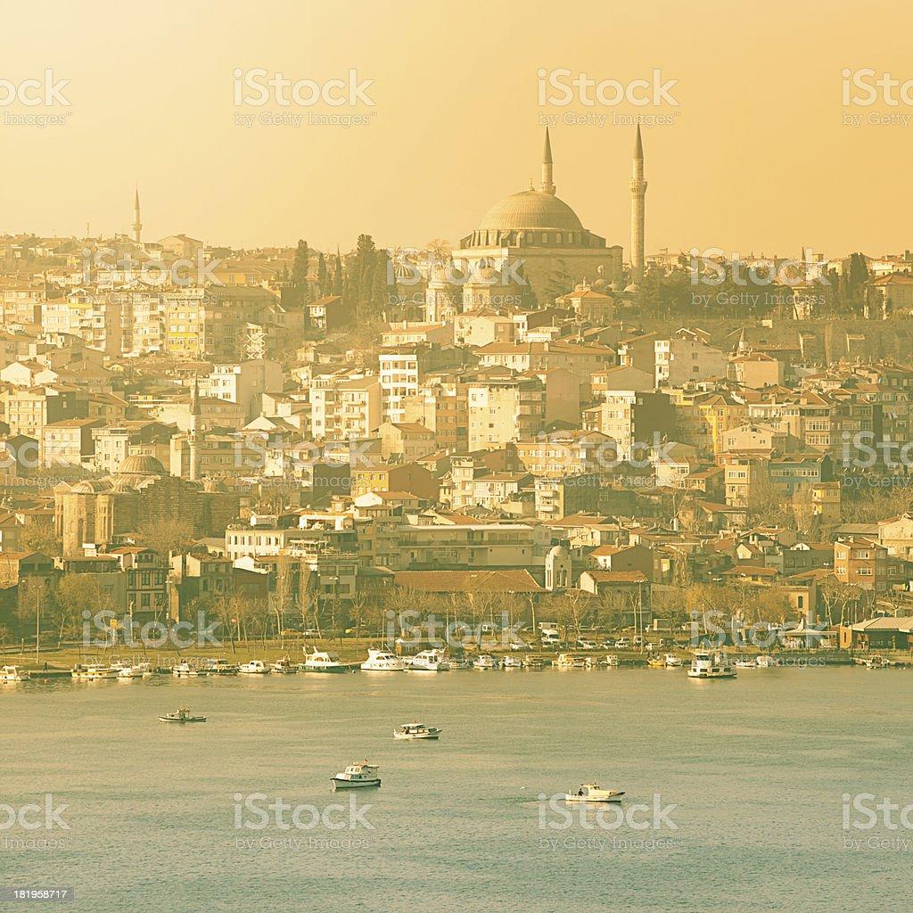 Istanbul panorama royalty-free stock photo