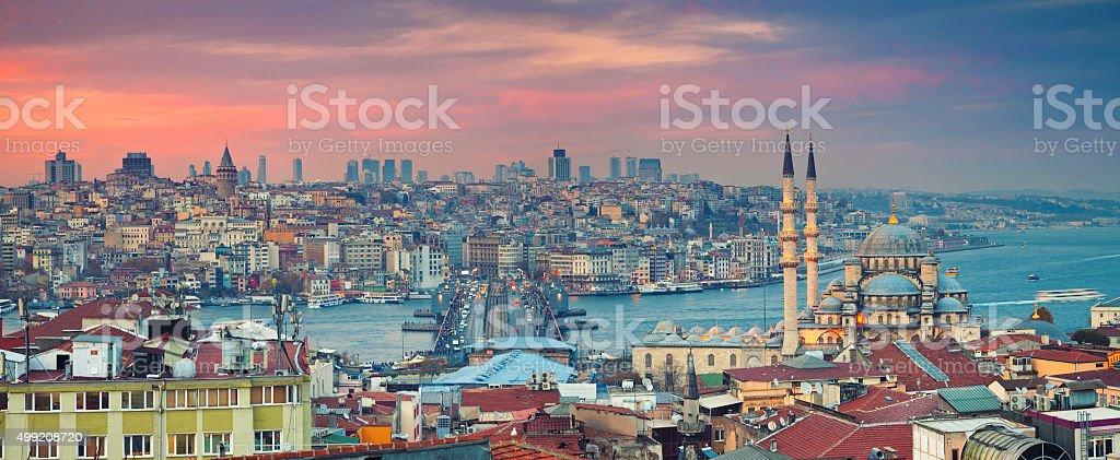 Istanbul Panorama. stock photo