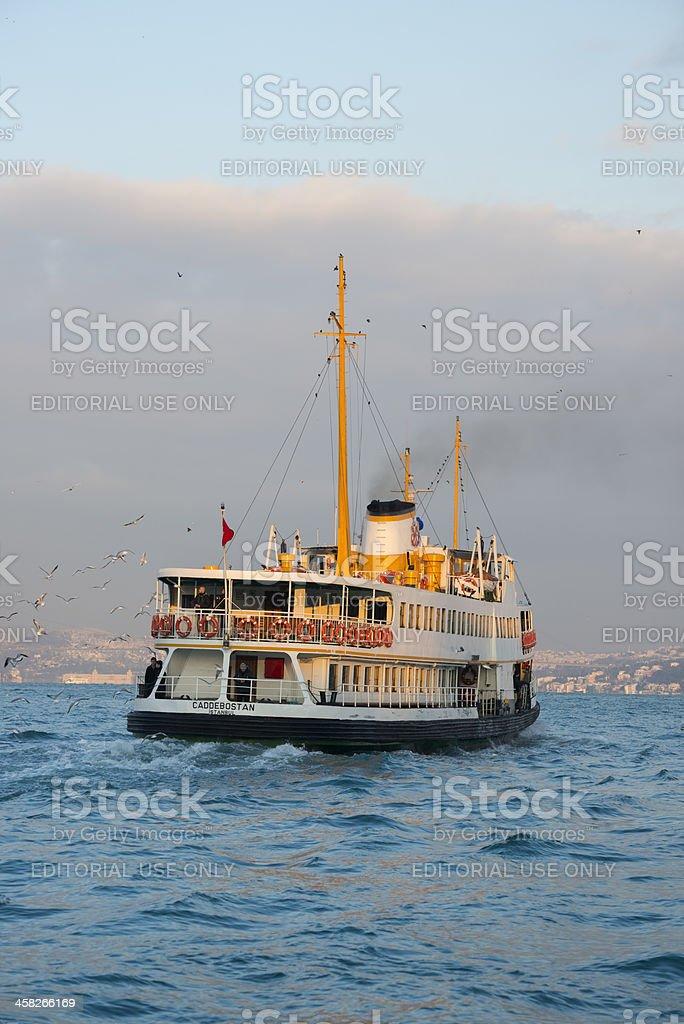 Istanbul passenger ferry on Bosporus Strait royalty-free stock photo