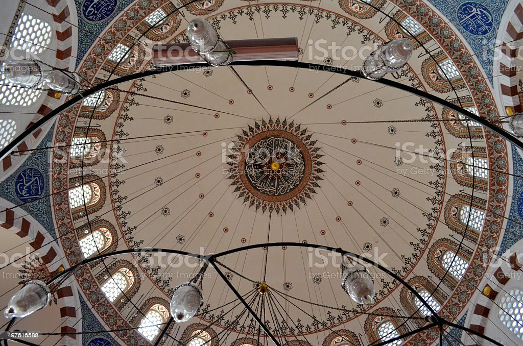 Istanbul, Rustem Pasa Mosque stock photo