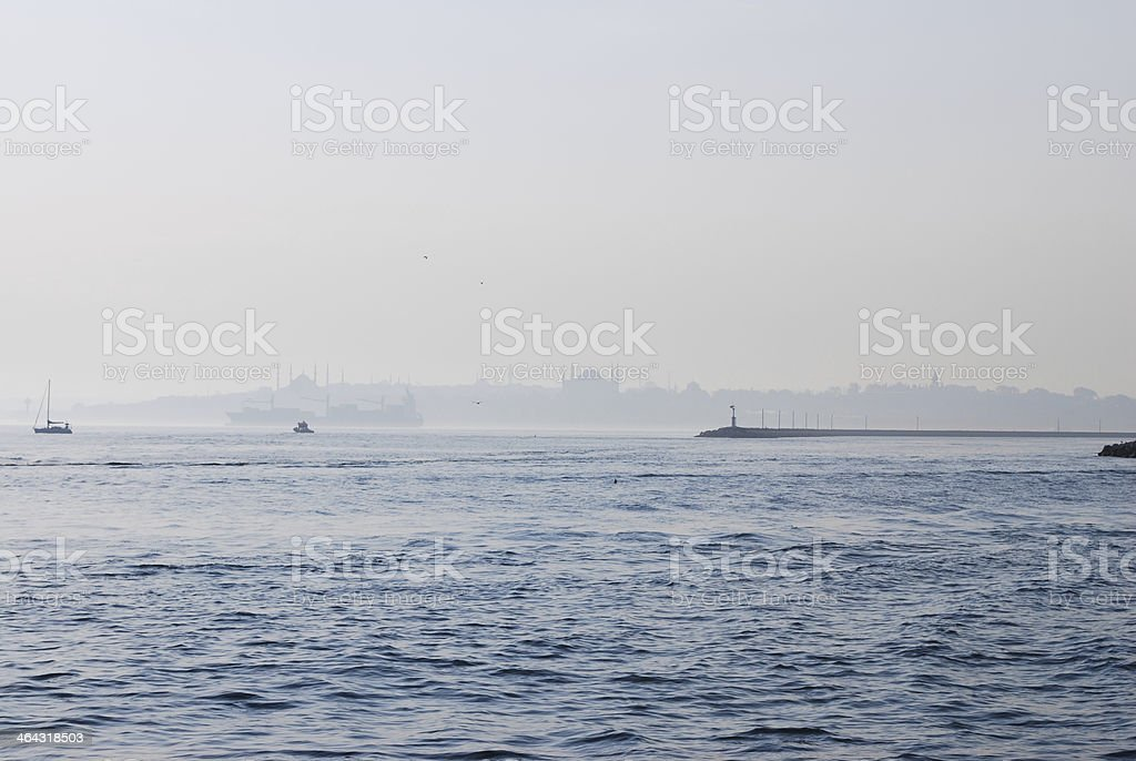 Istanbul silhouette 2 royalty-free stock photo
