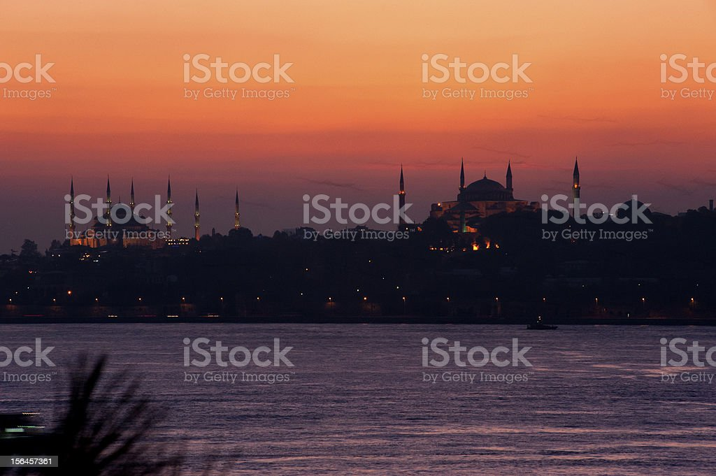 istanbul silhouette royalty-free stock photo