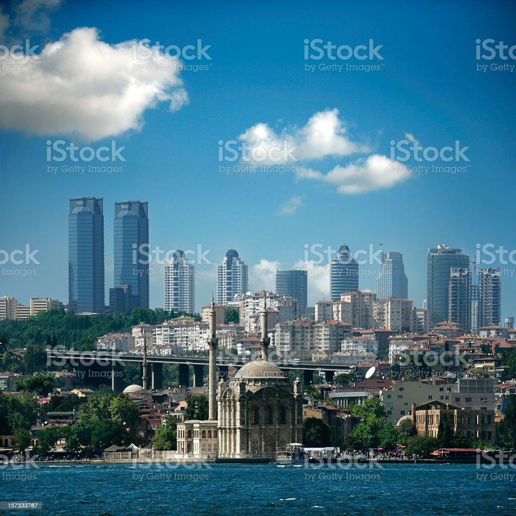 istanbul skylines stock photo