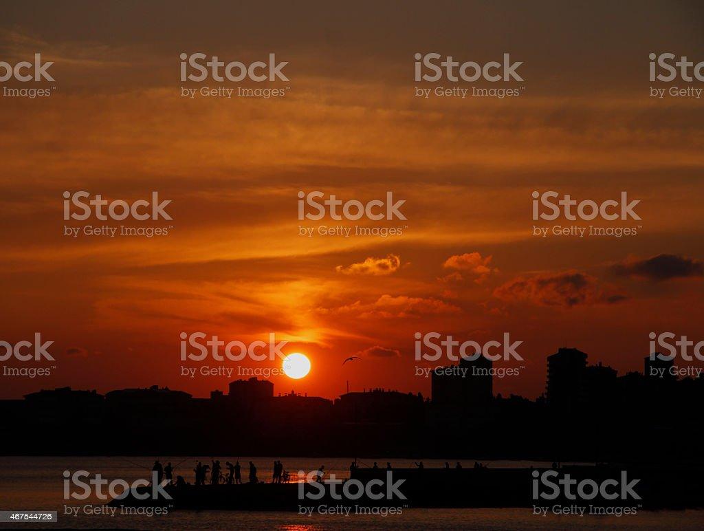 Istanbul - Sunset stock photo