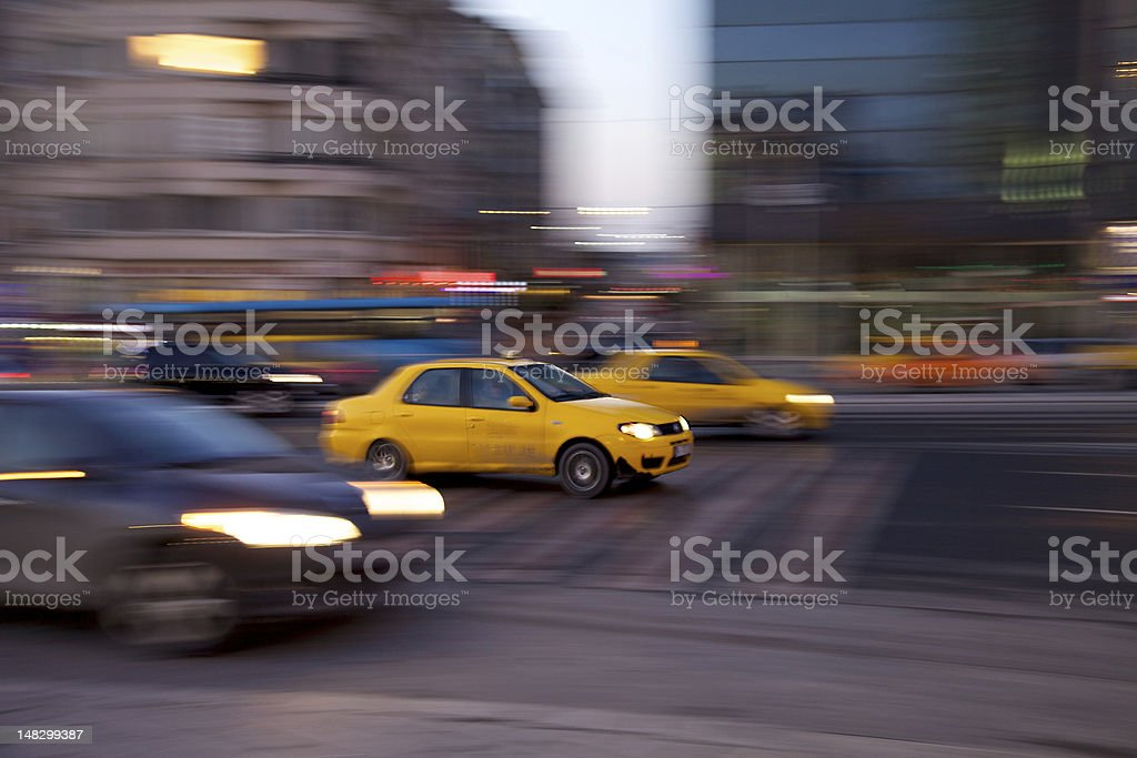 Istanbul Taxi royalty-free stock photo