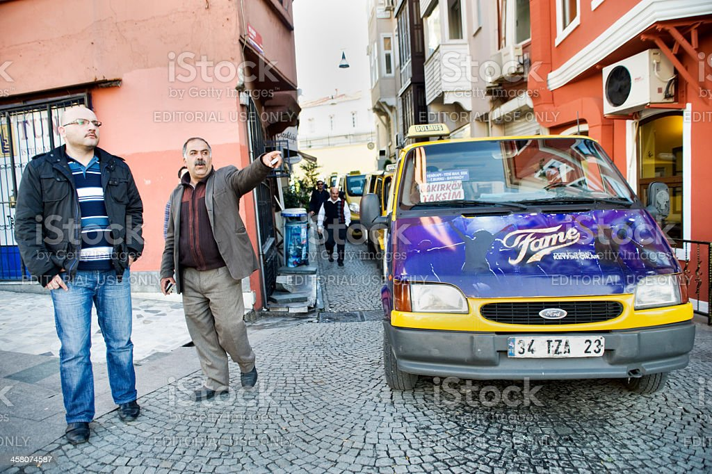 Istanbul Taxi Rank stock photo