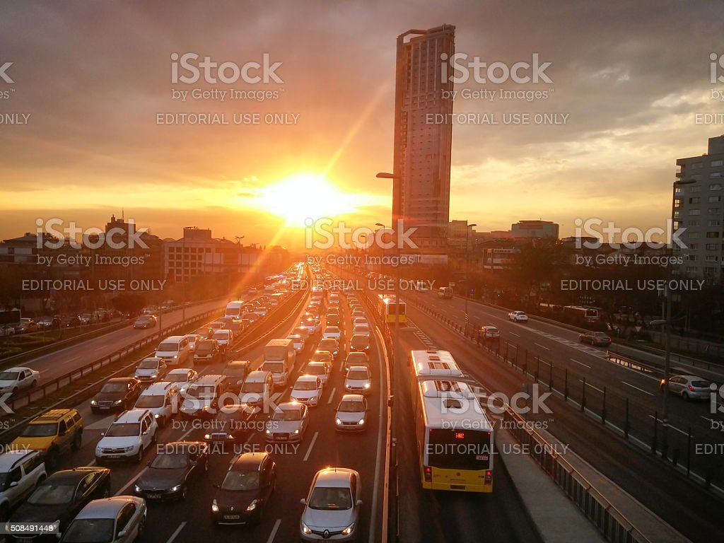 istanbul traffic stock photo