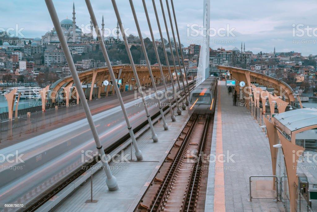 Istanbul  Train Station Platform stock photo