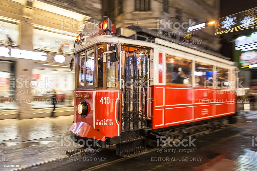 Istanbul Tramway stock photo