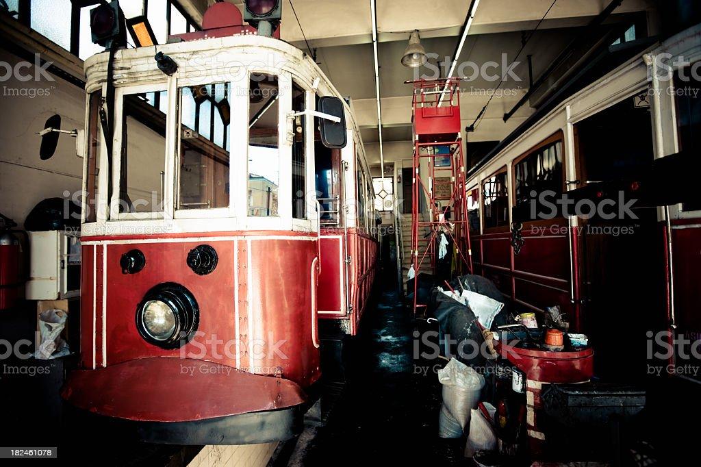 Istanbul Tunnel Tram Repair Station Turkey royalty-free stock photo