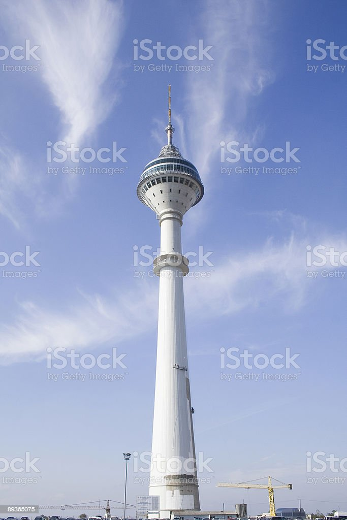 Istanbul tv tower royalty-free stock photo