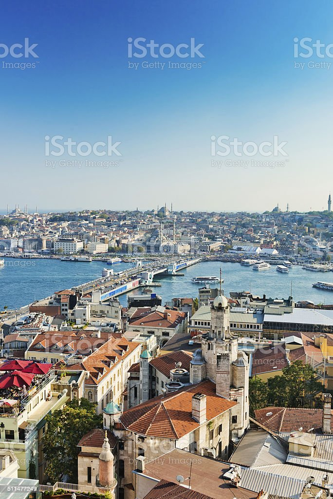 Istanbul View from Galata tower stock photo