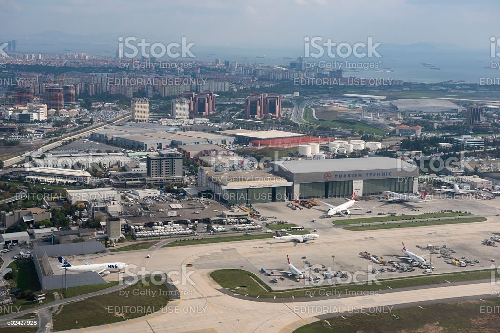 Istanbul's Ataturk Airport stock photo