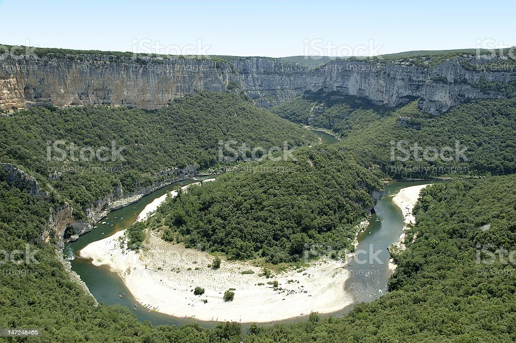 Isthmus - Ardeche Gorges royalty-free stock photo