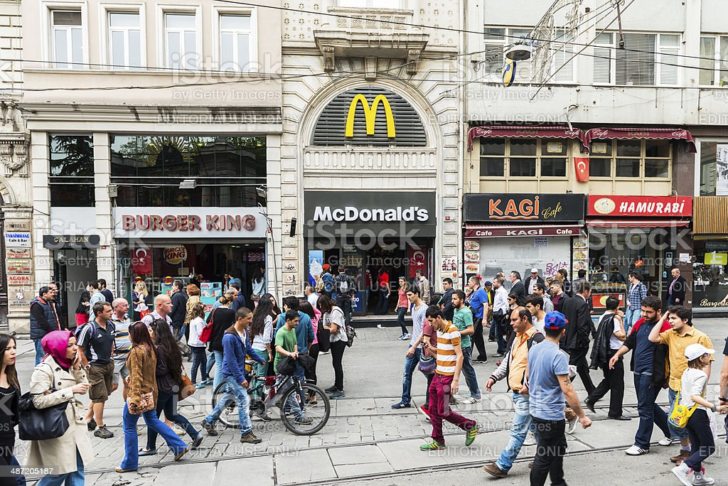 Istiklal Avenue Istanbul Crowd royalty-free stock photo