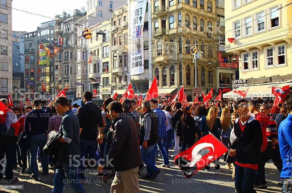Istiklal street, Istanbul. stock photo
