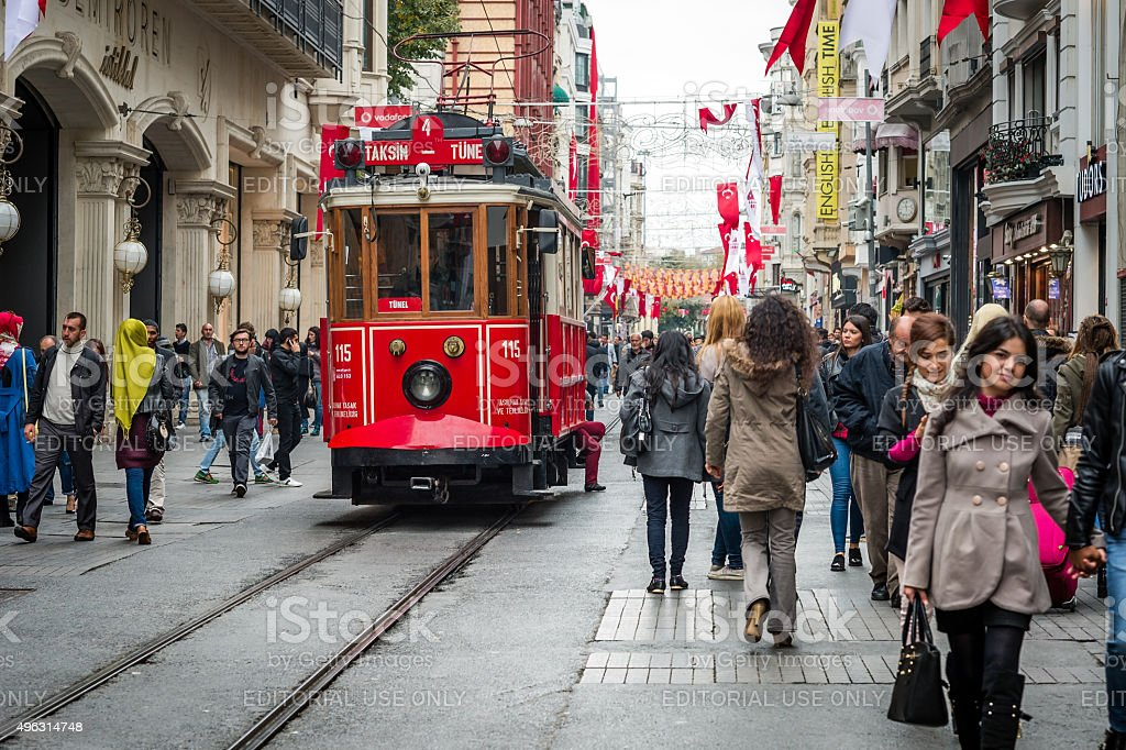 Istiklal street stock photo