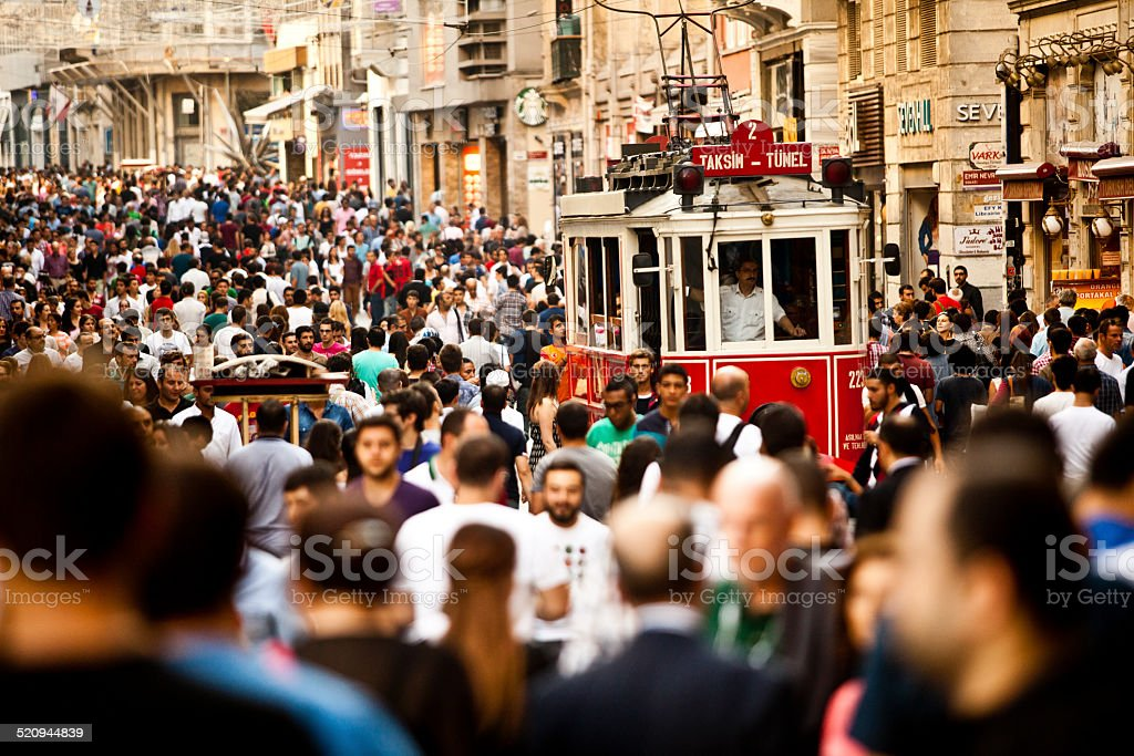 istiklal,taksim,istanbul stock photo