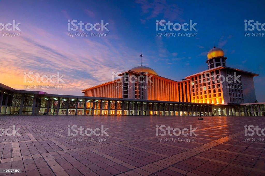 Istiqlal Mosque Jakarta stock photo