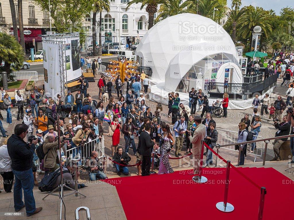 IStockalypse red carpet shoot, Cannes France stock photo