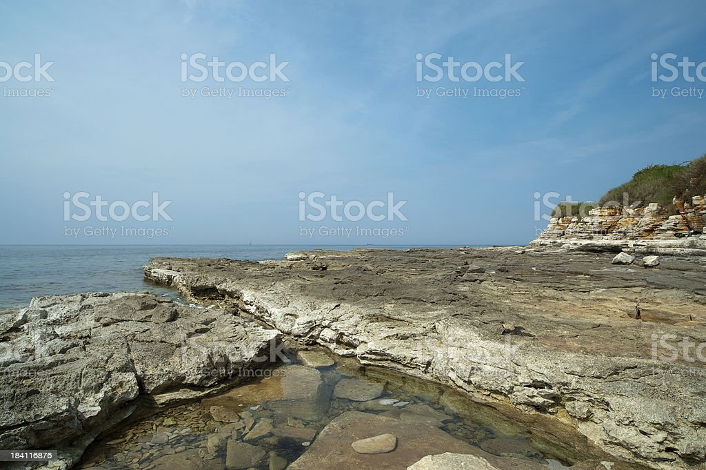 Istrian Coastline stock photo