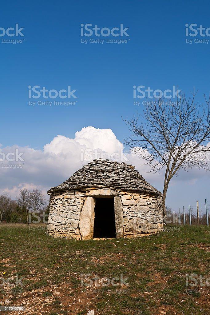 Istrian kazun, Croatia stock photo