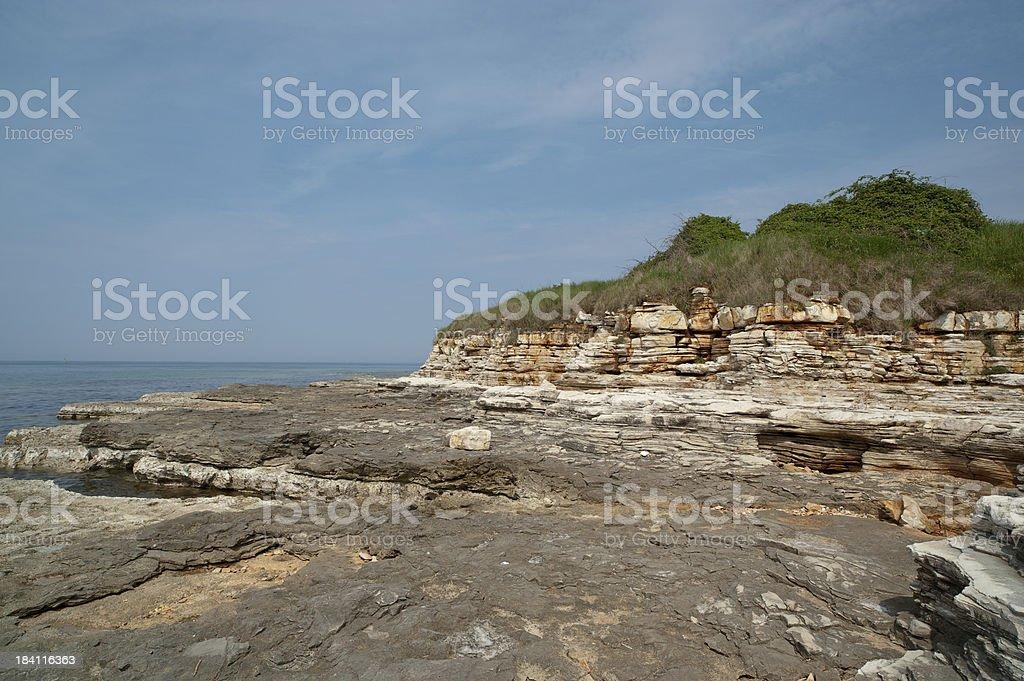 Istrian untouched beach stock photo