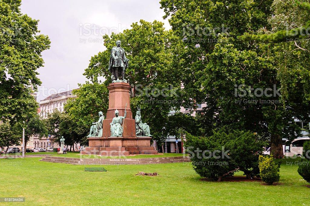 Istvan Szechenyi statue stock photo