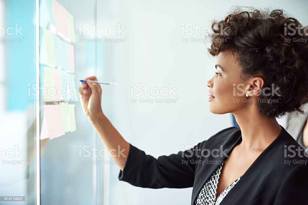 It all began with one idea stock photo