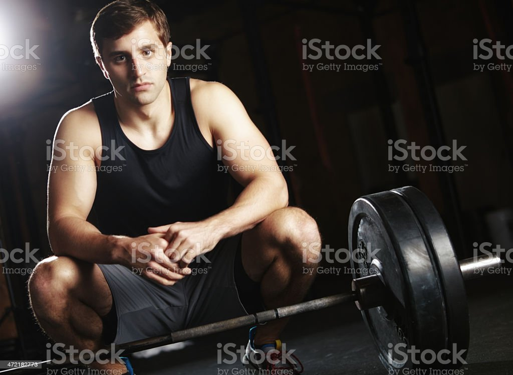 It all begins with the determination to succeed royalty-free stock photo