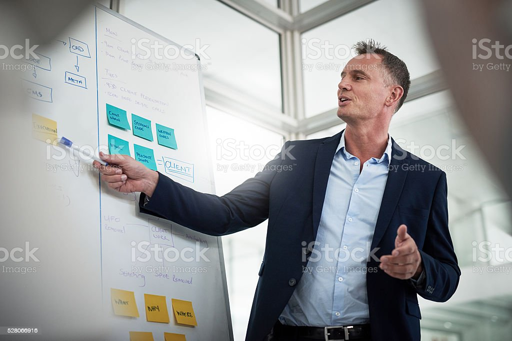 It all starts with a plan stock photo