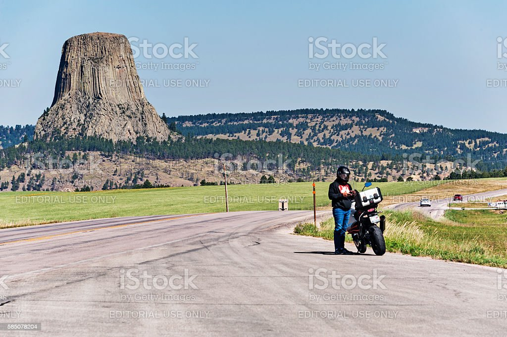 It appears that Many are headed to Devils Tower stock photo