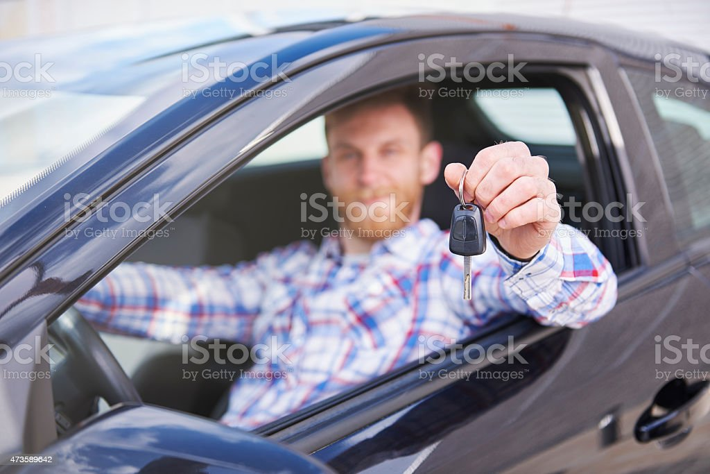 It came the time for first car stock photo
