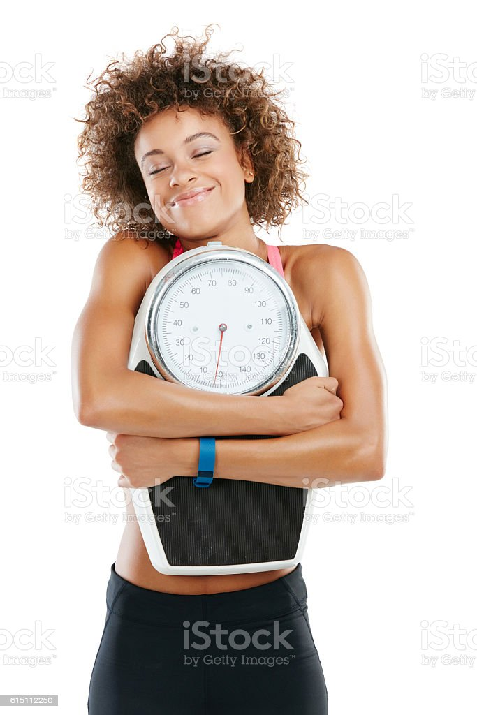 It feels great to be in shape stock photo