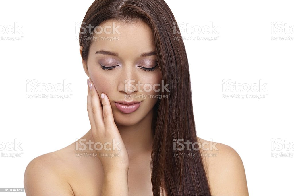 It feels so smooth royalty-free stock photo