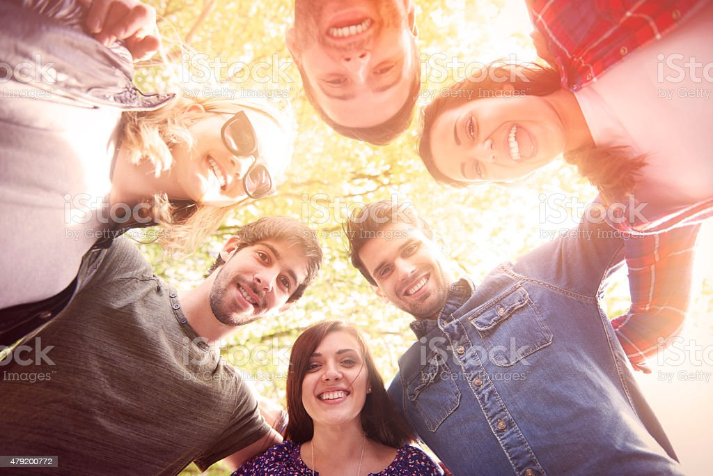 It great to have real friends stock photo