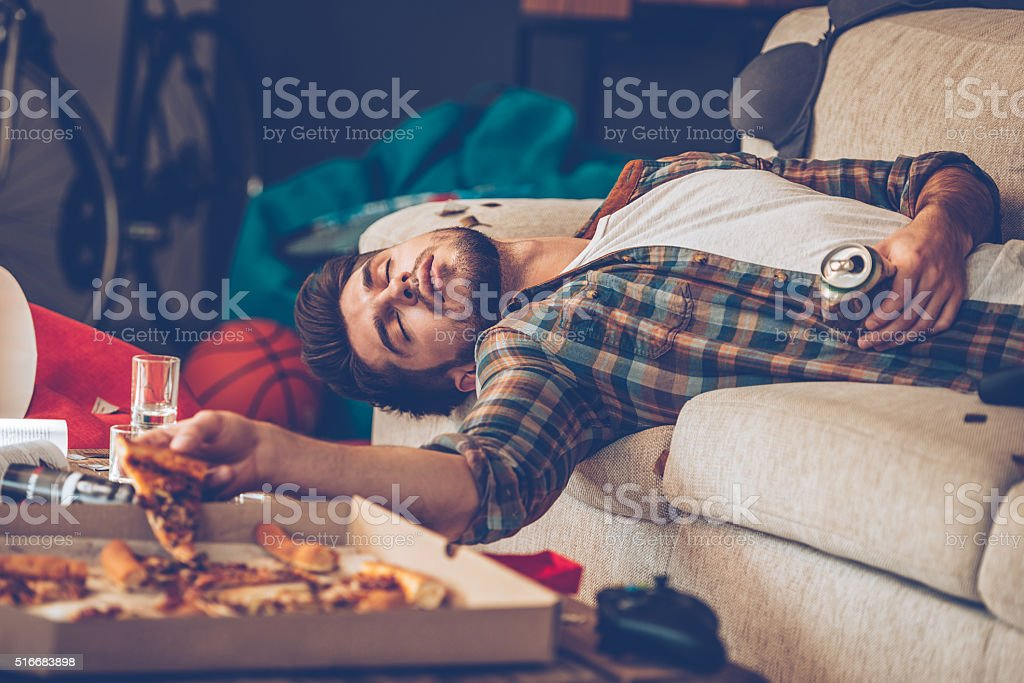 It has been a long night. stock photo