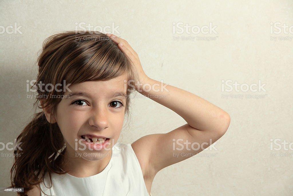 It has forgotten homework stock photo