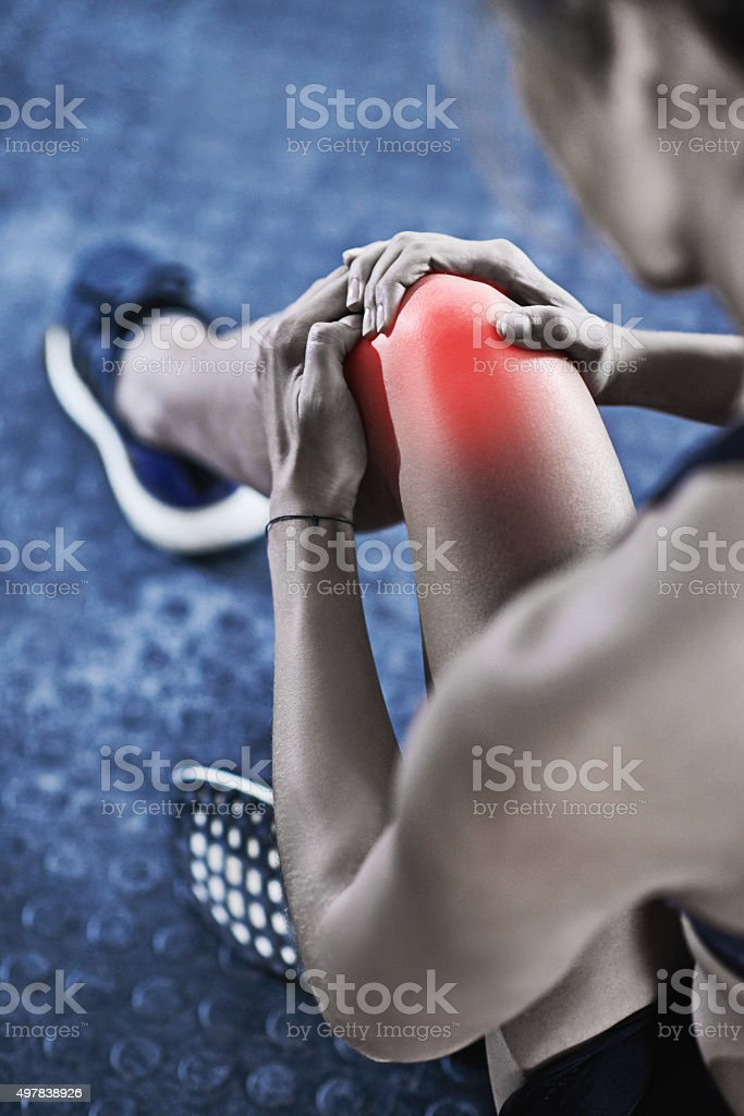 It hurts now, but one day it'll be your warm up stock photo