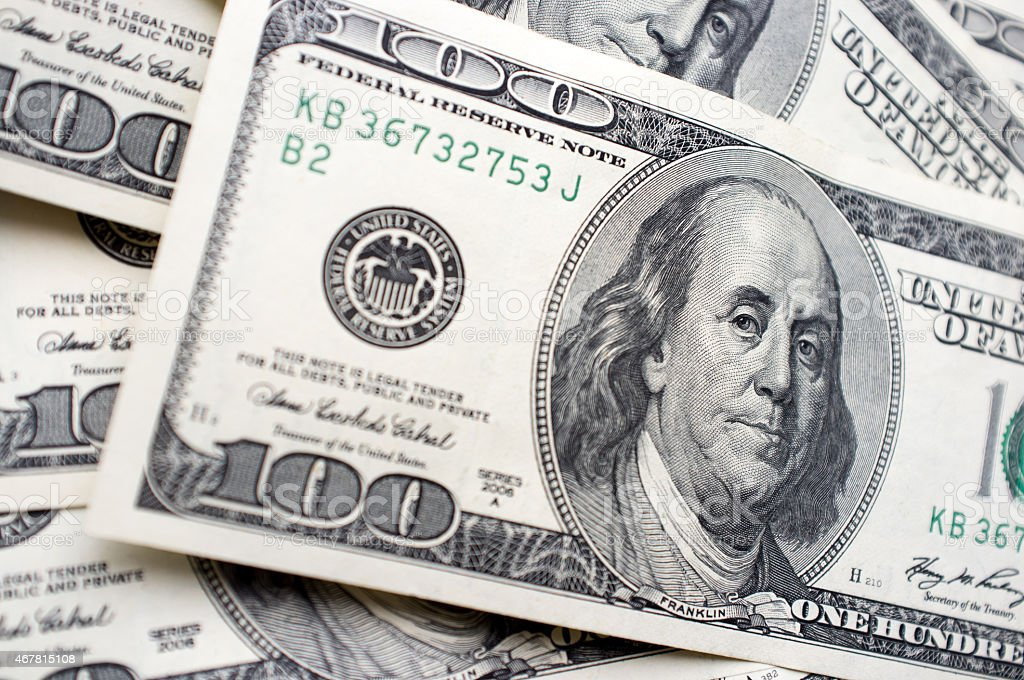 It is a lot of 100 dollar bills stock photo