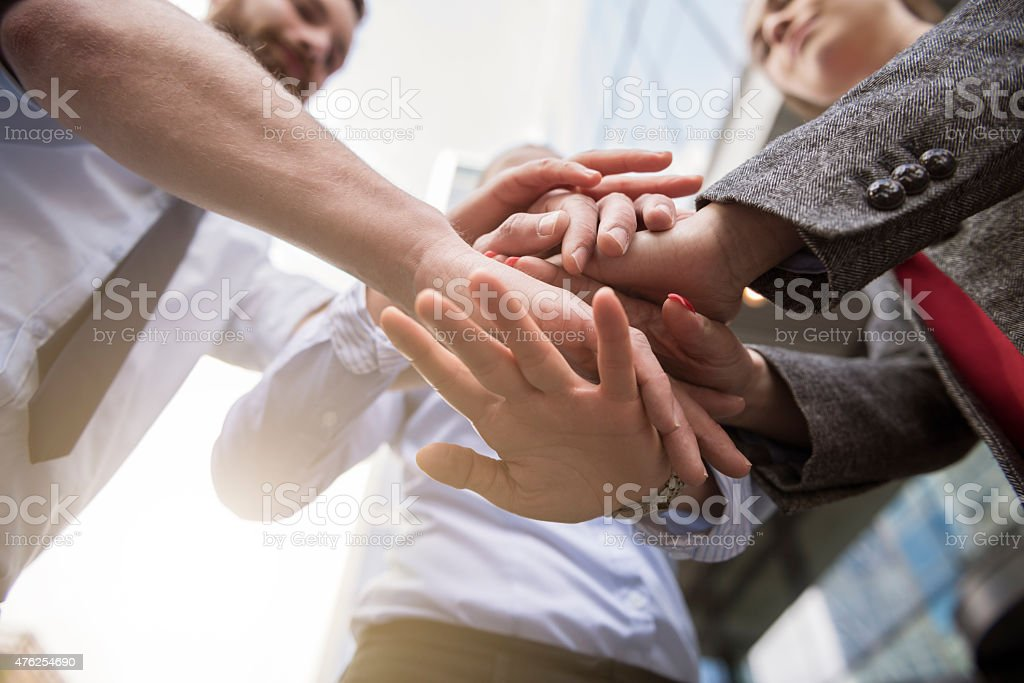 It is called effective teamwork stock photo